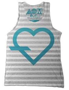 Image of .simple Tank (Ash Stripe)