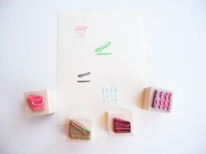 Image of The Recipe Writing Rubber Stamp Set
