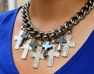 Image of  Lorelle Multi Cross Necklace