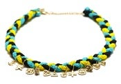 Image of NEMO NECKLACE - YELLOW/BLUE/BLACK