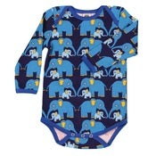 Image of blue elephants bodyvest, by Småfolk (0-3m only)