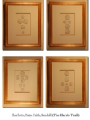 Image of Custom framed intaglios from Quatrefoil Design (sold individually)