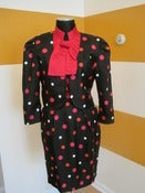 Image of Polka Dot Puff Sleeve Suit