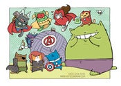 Image of Cat Avengers Print