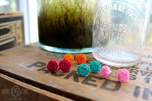 Image of Camellia Flower Earrings