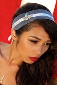 Image of JOSETTE-2 inch Horsehair and Crystal Headband