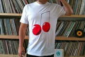 Image of Cherries Logo T-Shirt white