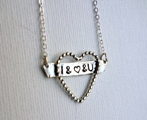 Image of I & Love & You Necklace