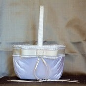 Image of MADELINE-Silk Dupioni and Rhinestone Flower Girl Basket
