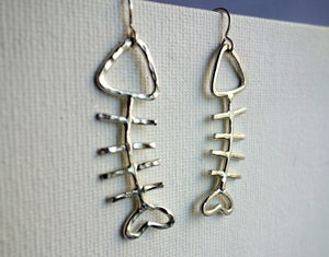 Image of Fish Sticks- Sterling Silver Fish Earrings