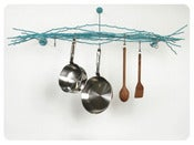 Image of Merkled Pot Rack - Wall-mounted