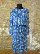 Image of Blue Printed Dress
