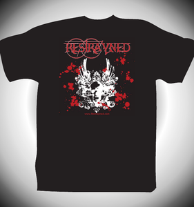 Image of Restrayned - Skull & Wings Logo T-Shirt