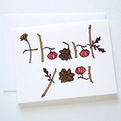 Image of Natural Lettering Thank You Card