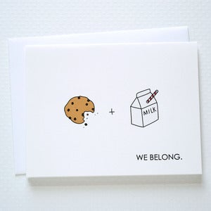 Image of We Belong Milk and Cookies Card