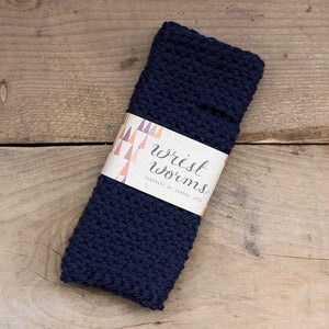 Image of Original Wrist Worms, Thick, Navy Blue