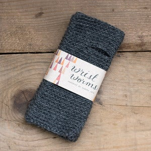 Image of Original Wrist Worms, Wool, Dark Grey