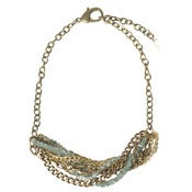 Image of crystallized necklace: mint