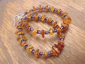 Image of Gypsy Cowgirl Hoop Earrings | Baltic Amber, Amethyst, Sterling Silver