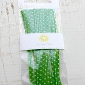 Image of Green Polka Dots Twist Ties