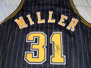 Image of Reggie Miller Authentic Signed Pacers Away Jersey