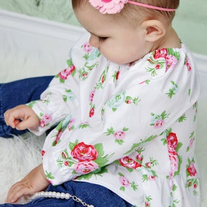 Image of Baby / Toddler Peasant Top Pattern - Long Sleeves and Short - PDF