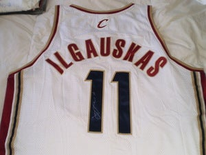 "Image of Žydrūnas ""Big Z"" Ilgauskas Signed Authentic Cavs Home Jersey with Team COA"