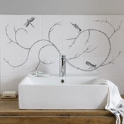 Image of Dragonfly tile mural