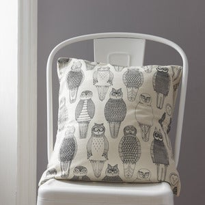 Image of Owls of the British Isles cushion cover