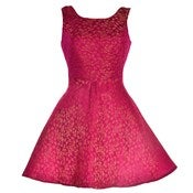 Image of 40% OFF! Pink Midas Jacquard Skater Dress