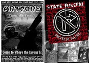 "Image of ARTCORE ISSUE #30 + STATE FUNERAL 'PROTEST MUSIC' 7"" EP"