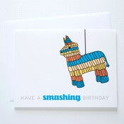 Image of Pinata Birthday Card