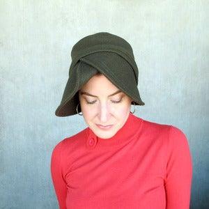 Image of Accomplice in olive wool