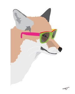 Image of Hipster Fox Print