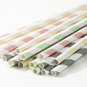 Image of Cream Soda Stripe Paper Straws