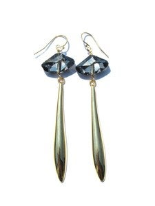 Image of Mixed Metal Earrings