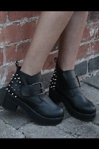 Image of Spike Back Buckle Boots