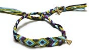 Image of BLENNY ANKLET - GREEN/PURPLE/BLUE