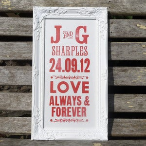 Image of Personalised Wedding Letterpress Print