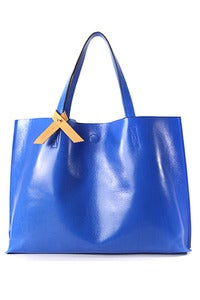 Image of 'Dive to Blue' Leather Shopper Bag