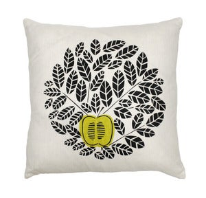 Image of an apple a day cushion - green.