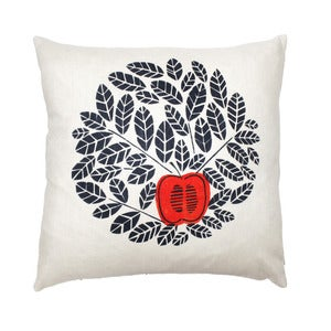 Image of an apple a day cushion - red.