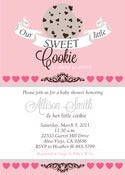 Image of Our Sweet little Cookie Baby Shower invitation