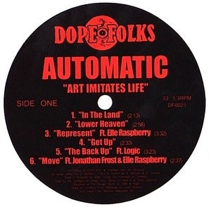 Image of AUTOMATIC &quot;Art Imitates Life&quot; LP 