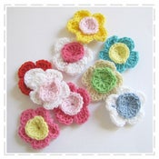Image of Multi-Coloured Crochet Flowers