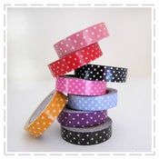 Image of Polka Dot Fabric Tapes