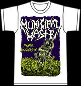 Image of MUNICIPAL WASTE - Massive Aggressive WHITE T-Shirt