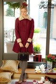 Image of Time After Time Wool Mix Coat (maroon)