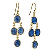 "Image of  "" New "" Kara Ackerman <i> Judie <i/> Oval Faceted Sapphire 4 Drop Earring"