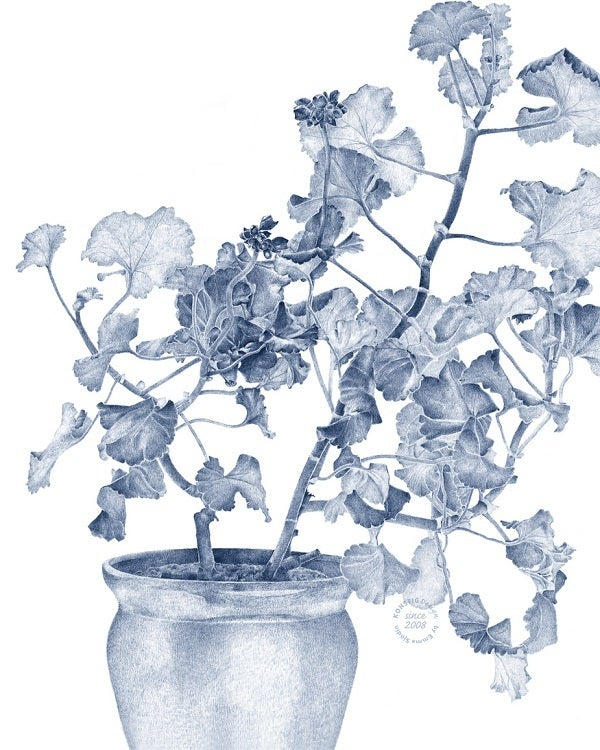Image of Swedish Wall Decor, Blue Geranium (Linen)